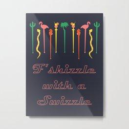 MCM Swizzle Metal Print