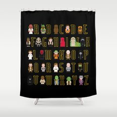 St_ar Wars Alphabet 3 Shower Curtain