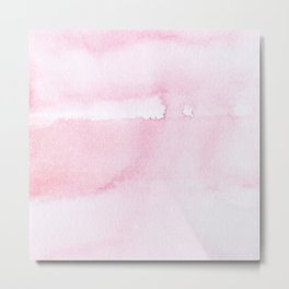 Pink watercolor // texture Metal Print