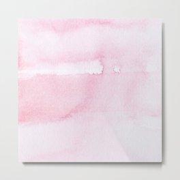 Pink watercolor // texture Metal Print
