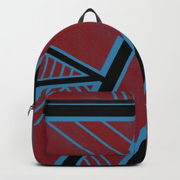 Urban Veins (Blue, Black and Red Edition) Backpack