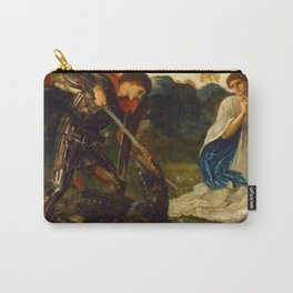 "Edward Burne-Jones ""The fight - St. George kills the dragon"" Carry-All Pouch"
