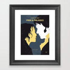 No584 My Pride and Prejudice minimal movie poster Framed Art Print