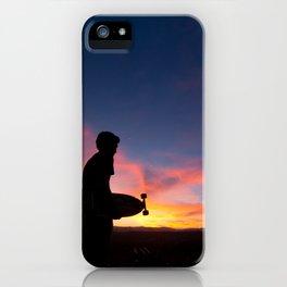 Longboard Silhouette iPhone Case