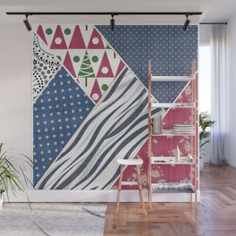 Abstract pattern .Textile patchwork patchwork . Wall Mural