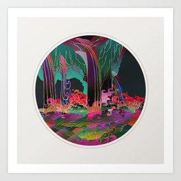 Reincarnation - Neon Waterfalls Art Print