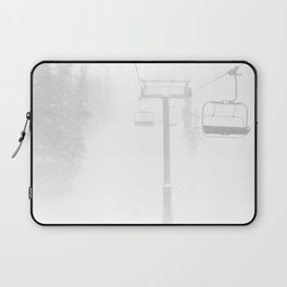Mountain High // Riding the Chairlift Copper Mountain Colorado Foggy Snow Climb Laptop Sleeve