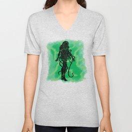 Poison Ivy Splatter Pattern Unisex V-Neck