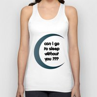 sleep Tank Tops featuring Sleep by Cs025
