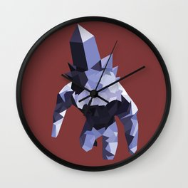 Crystal Golem Wall Clock