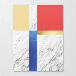 Gold collage XVI Canvas Print