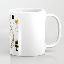 Pretty Golden Unicorn Birthday Girl 10 Years Born 2008 Coffee Mug