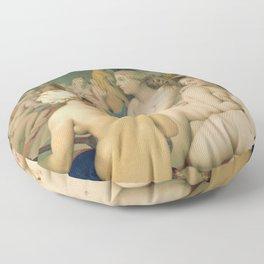 Le Bain turc / The Turkish bath (1862) Floor Pillow