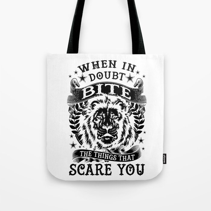 When in doubt... Bite. Tote Bag