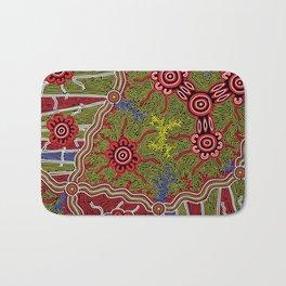 Aboriginal Art Authentic- Connections Bath Mat