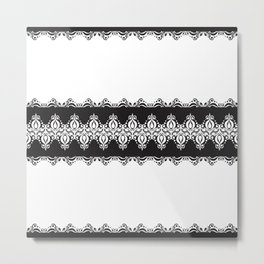 Floral Lace Border Metal Print