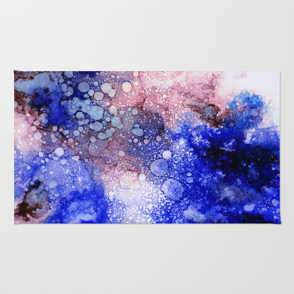 Red And Blue Rays Rug by The7rays RUG7783730