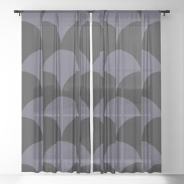 Cleo Pattern - Midnight Sheer Curtain