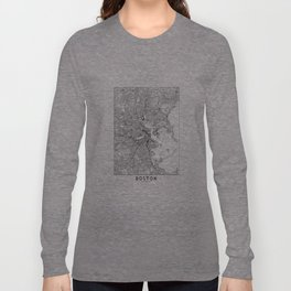 Boston White Map Langarmshirt