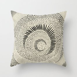 Hand Drawn Patterned Abstract Throw Pillow