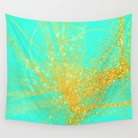sparkle Wall Tapestries featuring sparkle  by haroulita