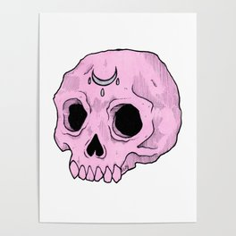 Witchy Skull Poster