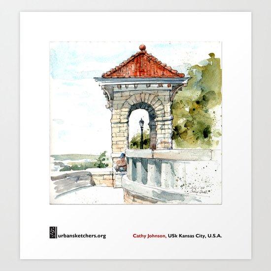 "Cathy Johnson, ""Case Park"" Art Print"