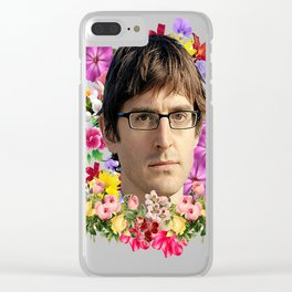 Louis Theroux Floral Clear iPhone Case
