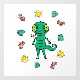 Baby Kids Lizard I Toddler Lizards Motif Art Print