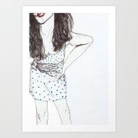 polka dots Art Prints featuring Polka Dots by Kirsten McNee