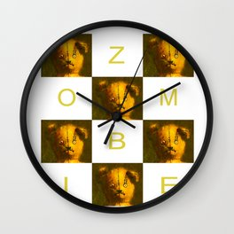 Zombie Teddy Bear Wall Clock