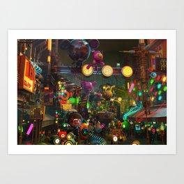 the market Art Print