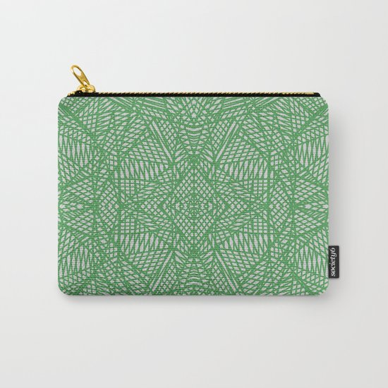 Ab Lace Green Carry-All Pouch