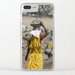 Jaipur Rubble Clear iPhone Case