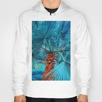 palm tree Hoodies featuring Palm Tree by DistinctyDesign
