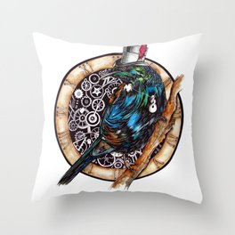 Clock Tui  Throw Pillow