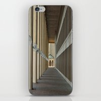 outdoor iPhone & iPod Skins featuring Outdoor Corridor by Kevin Myron