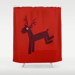 Reindeer-Red Shower Curtain