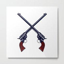 Crossed Guns Metal Print