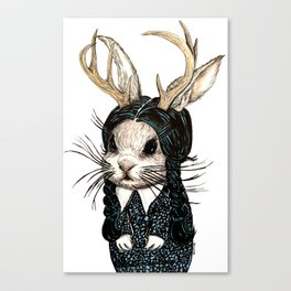 Wednesday Jackalope Canvas Print