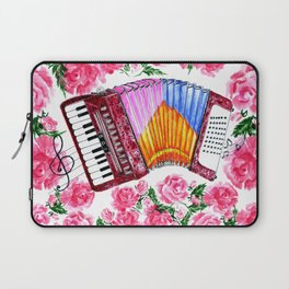Accordion with pink roses Laptop Sleeve