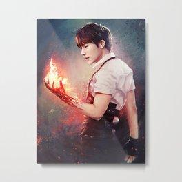 Fire Gyu Metal Print