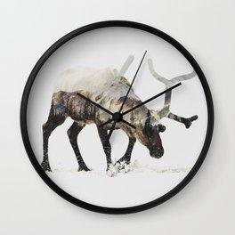 Arctic Reindeer Wall Clock
