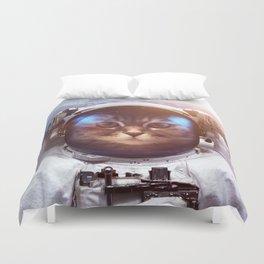 Cat in space Duvet Cover