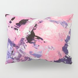 Love yourself pink purple abstract modern acrylic brushstrokes painting Pillow Sham