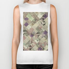 Abstract Geometric Background #25 Biker Tank