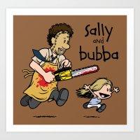 Sally and Bubba Art Print