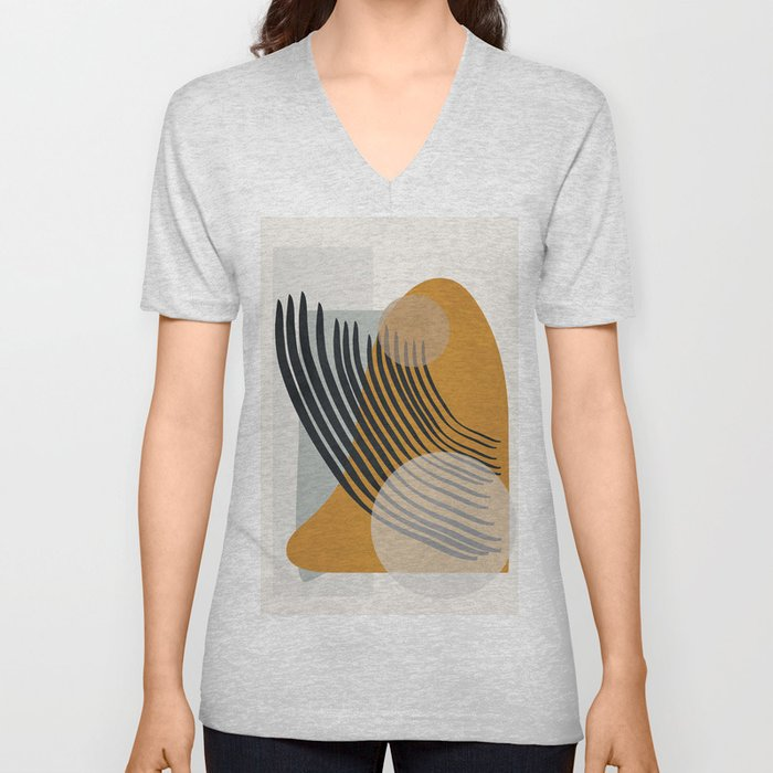 Abstract Shapes 33 Unisex V-Neck