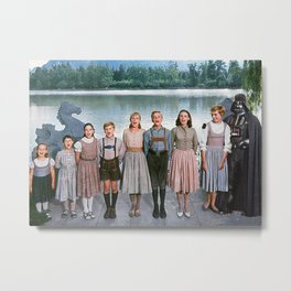 Darth Vader in The Sound of Music Metal Print