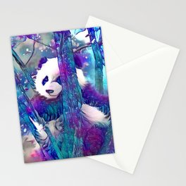 Moonlight Starfall Panda Stationery Cards